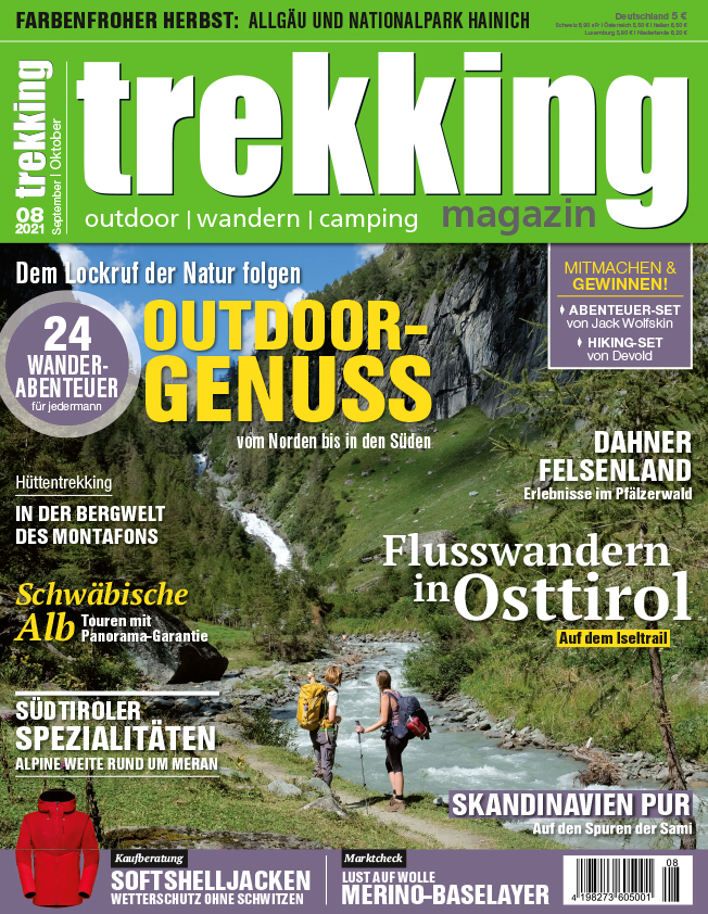 trekking Magazin 8/21 – jetzt im Handel!