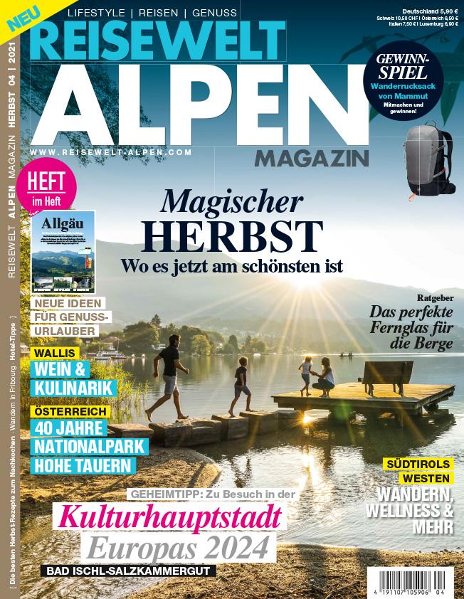 Reisewelt ALPEN Magazin 3/21 – jetzt im Handel!